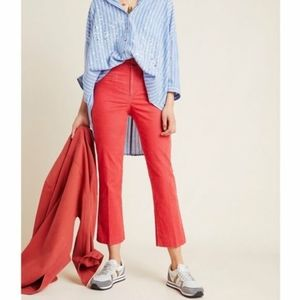 NWT Anthropologie corduroy cropped flare pants